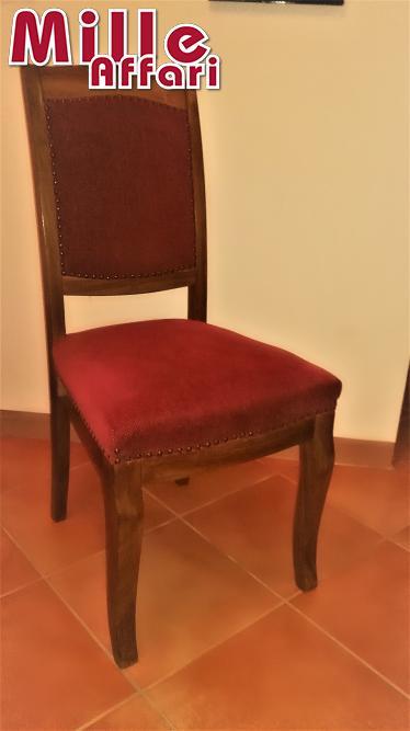 Tessuti Per Sedie Antiche.N 2 Sedie Antiche In Legno E Tessuto Con Imbottitura Su Sedile